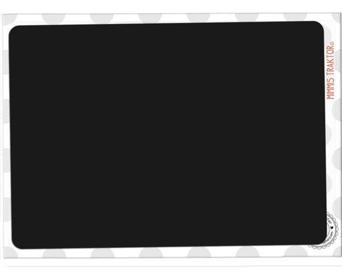 Mimmis Traktor® Bügelbild Tafel 19 cm x 13 cm - günstiger Einführungspreis - SCHWARZ
