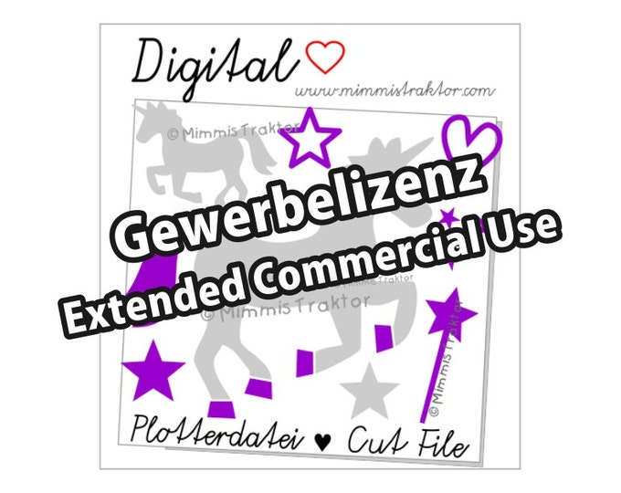Additional commercial license, Unicorns Magic Wand, Instant Digital Download,
