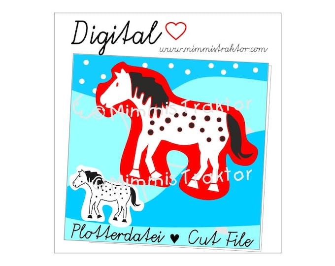 Cut File SVG, DXF, Instant Digital Download, Horse with dots, limited commercial use
