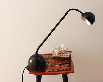 Vintage 90s Desk Lamp Black Hustadt Table