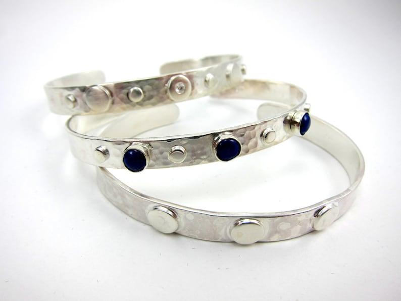 adjustable sterling silver and lapis cuff bracelet southwest