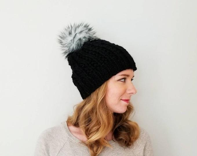 Moxie Pom Pom Hat - Black