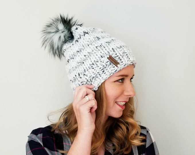 Baxter Hat with Pom Pom - Marble