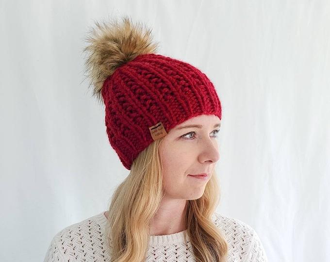 Moxie Hat with Pom Pom - Poppy