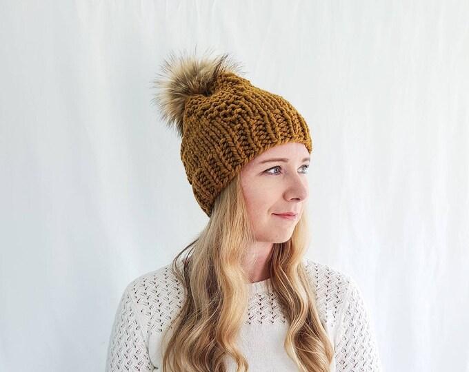 Rangeley Hat with Pom Pom - Flax
