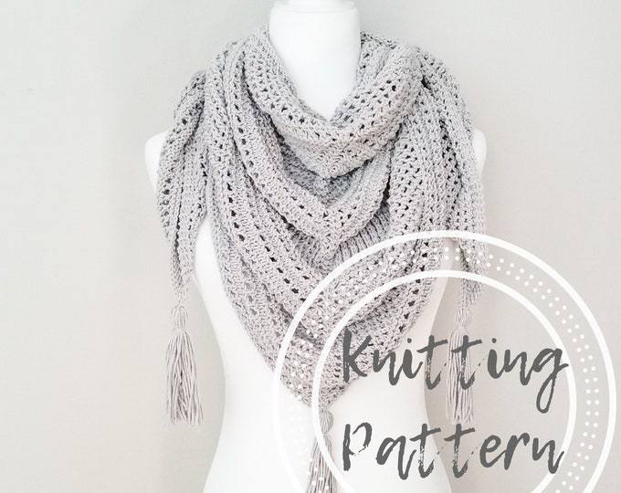 Featured listing image: Aberdeen Shawl Knitting Pattern