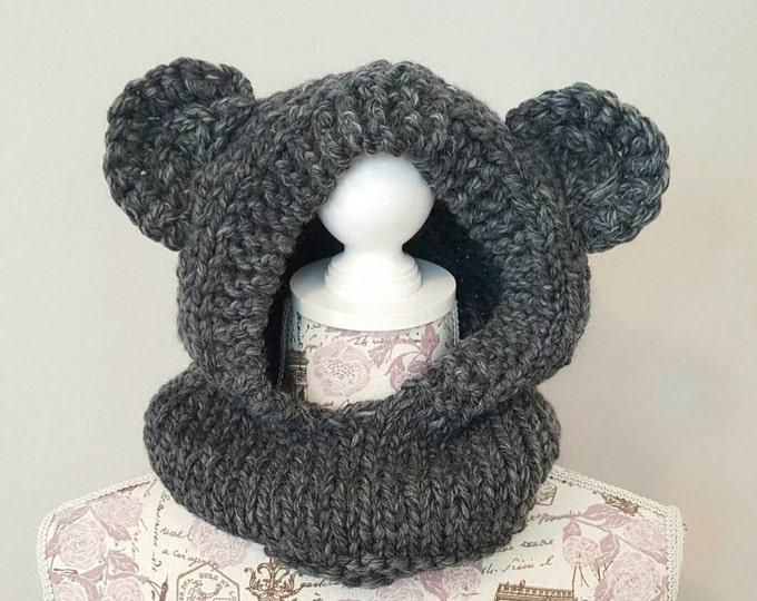 Bear Hood - Charcoal