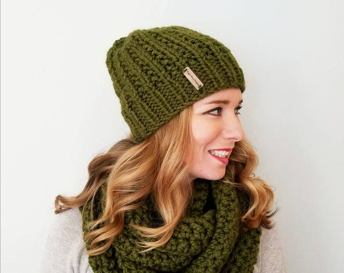Moxie Hat and Sutherland Infinity Scarf Bundle