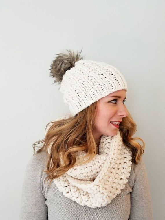 Moxie Hat and Sutherland Infinity Combo Cream Pom Pom Hat  fa5fc3a142e