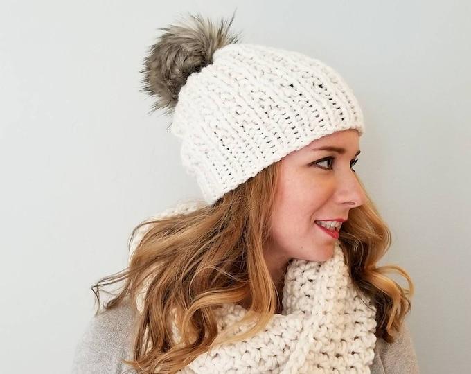 Moxie Hat and Sutherland Infinity Combo - Cream