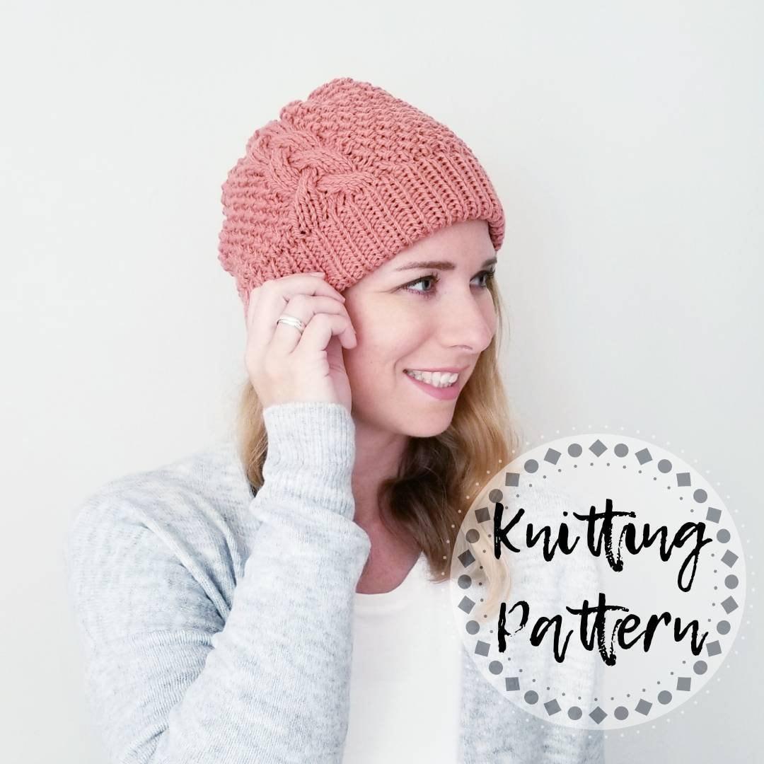 Knitting Pattern - Popham Double Brim Beanie Pattern 02626d7a0b2
