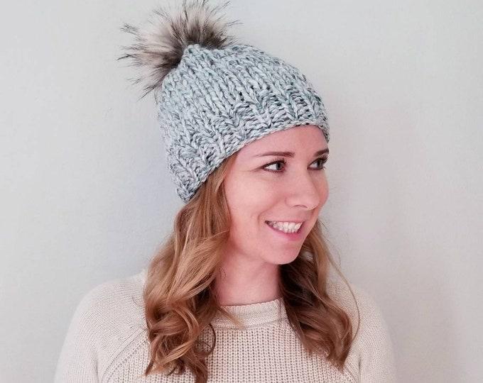 Baxter Hat with Pom Pom - Sea Foam
