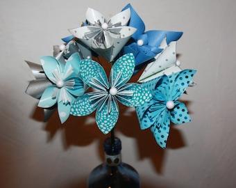 bouquet de mariée  en origami couleur au choix. Livraison gratuite en france