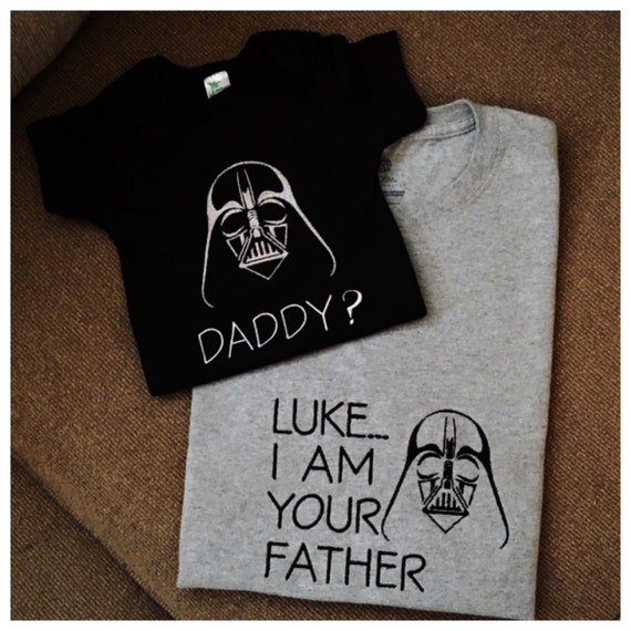 0efd87c6 Daddy and Son Star Wars shirts Luke I am your father | Etsy