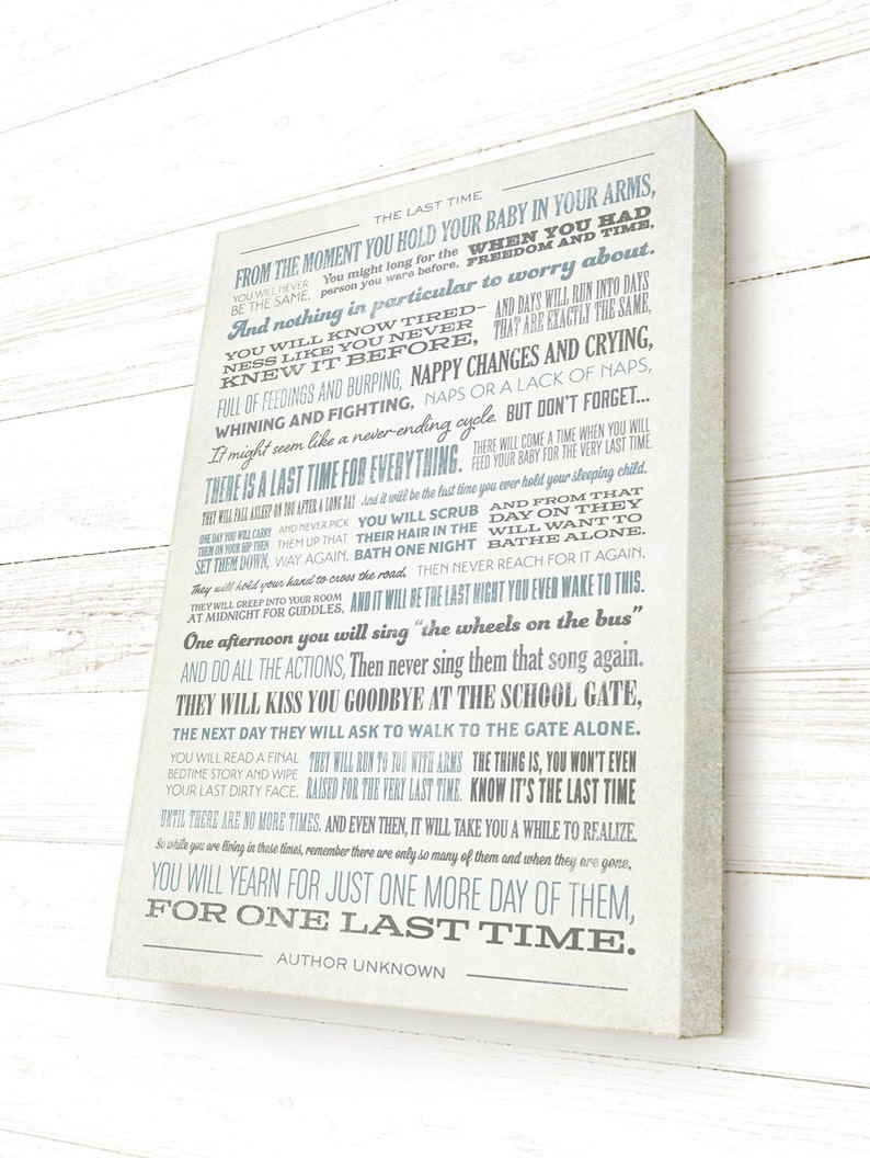 The Last Time Quote Ready To Hang Canvas Gallery Wrap Pick Etsy
