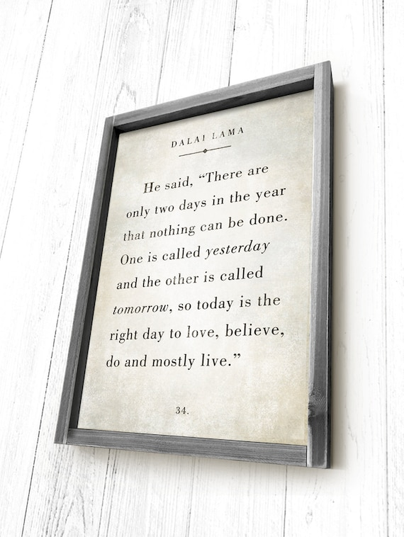 Dalai Lama Quote Book Quote Sign Farmhouse Sign Framed Etsy