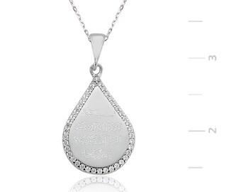 Silver Evil Eye Drops Necklace - IJ1-1295