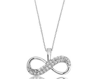 Silver Infinity Pendant - IJ1-1544
