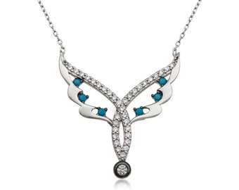 Silver Fairy Wing Necklace - IJ1-2023