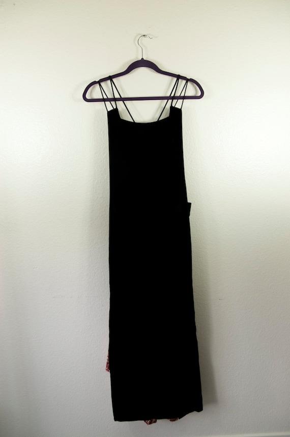 Vintage Jessica McClintock 1980s Velvet Prom Dress - image 2