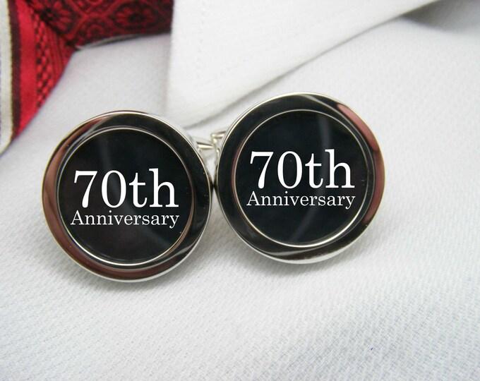 70th Anniversary Cufflinks   CUF-ANN0015