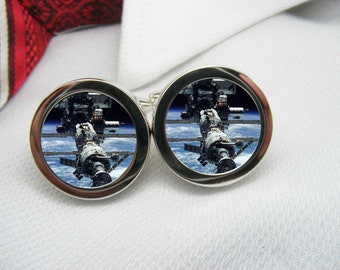 Space Station in space cufflinks    NOV-SPA0005