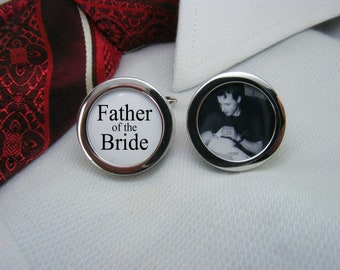 Father of the Bride Cufflinks - With a picture are the ideal wedding gift for your brides dad.   WED-BRI0012