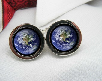 Earth from space cufflinks    NOV-SPA0006