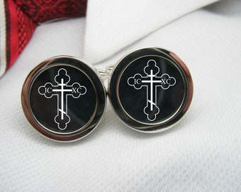 Orthodox Cross Cufflinks   BIB-IMG0003