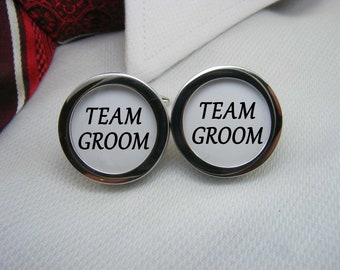 Team Groom Cufflinks - These cufflinks are the ideal wedding gift for your groom and groomsmen  WED-GRM0004