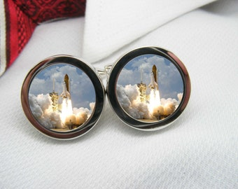 Space Shuttle launching cufflinks   NOV-SPA0002
