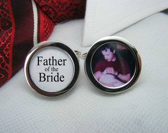 Father of the Bride Cufflinks - With a picture are the ideal wedding gift for your brides dad.   WED-BRI0013