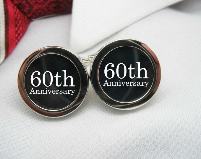 60th Anniversary Cufflinks   CUF-ANN0013