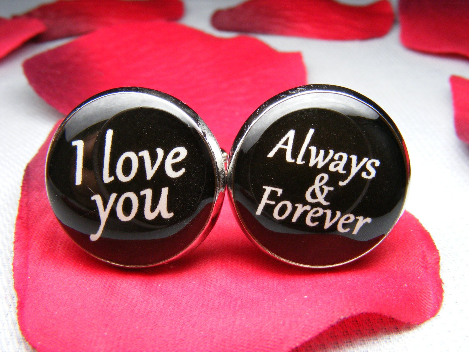 I love you Always and Forever Cufflinks Grooms Gift