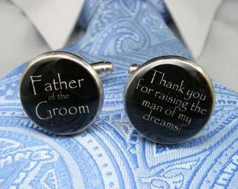 Father of the Groom Cufflinks Gift from the Bride - Father Gift - Grooms Dad Gift - Gift for Grooms Dad - Father of Groom Gift from Bride