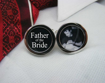 Father of the Bride Cufflinks - With a picture are the ideal wedding gift for your brides dad.  WED-BRI0014