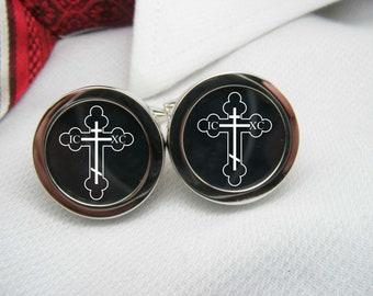 Orthodox Cross Cufflinks   BIB-IMG0003