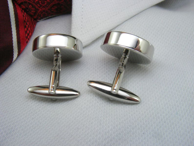 Father of the Groom Cufflinks With a picture are the ideal wedding gift for your grooms dad WED-GRM0011