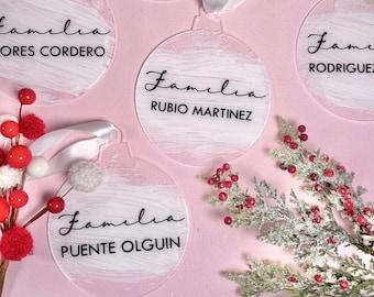 Custom Acrylic Christmas Ornaments, Acrylic Ornament, Xmas Ornament , Bambalina, Xmas decor, Family Ornament, Christmas Tree