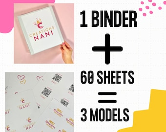 1 Binder of Stickers, Stickers Pack, Stickers folder, Business Sticker, Postage Stickers, Packaging Label