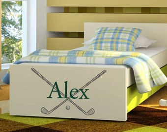 Golf Decal: Sports Name Decal - Bedroom Wall Decor