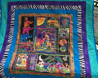 Laurel Burch Mythical Jungle Toddler Quilt