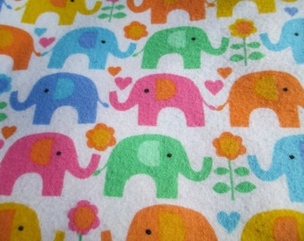 Elephant Love in soft flannel !  Stroller Blanket or other versatile uses.  Be ready for cooler weather! 31 X 41