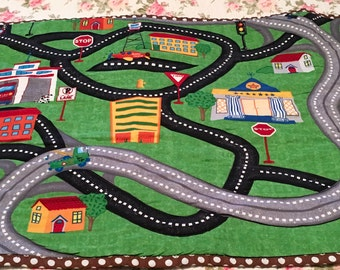 Car and Truck City Playmat  23 X 24 inches of fun!