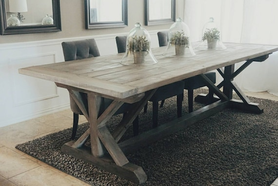 Made To Order X Style Farmhouse Trestle Table