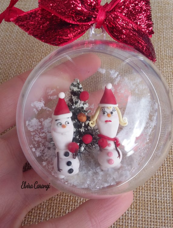 Olaf Christmas Trees.Olaf Christmas Ball Cartoons Polymer Clay Christmas Tree