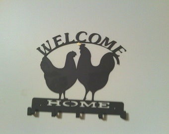 Welcome to the Coop - Chicken Key Chain Holder