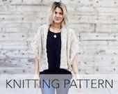 Knitting Pattern // Ribbed Chunky Cardigan Shrug Boho Topper // Mont Blanc Cardigan PATTERN
