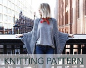Knitting Pattern // Eyelet Lace Cocoon Summer Cardigan // Chelsea Cape PATTERN