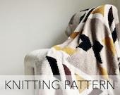 Knitting Pattern // Geometric Turkish Persian Southwest Tribal Afghan Throw // Kilim Blanket PATTERN